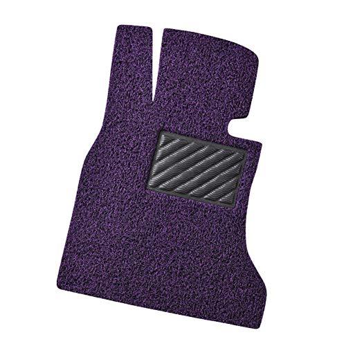 HWZZ Universal Auto Fußmatten,Schwarz Lila Drahtring,Individuell Anpassbare Auto-Matte,Leicht zu Waschen,Schnell Trocknend Wasserdicht rutschfest Schneidbar
