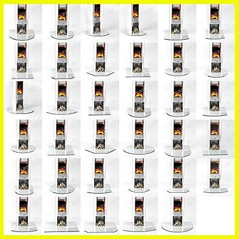 Funkenschutzplatte Rechteck 6mmx 500mmx 1000mm mit 18mm Facette und Dichtlippe Glasplatte Bodenplatte Kaminplatte Funkenschutz Ofenplatte (Rechteck Glas)