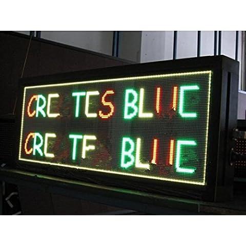 GOWE per Display Led, 32 x 96, Tri-Color, P10, RGY, per esterni, con messaggio elettronico, Ideali per pubblicizzare per bordo, fornitore 1-4lines - Moving Elettronico