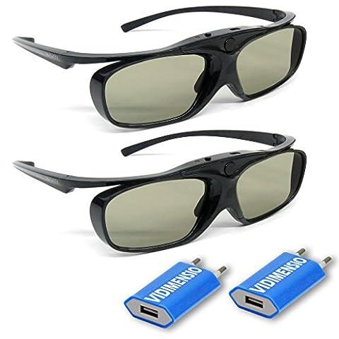 2 Stück VIDIMENSIO® 3D-BT Pro - 3D Brillen