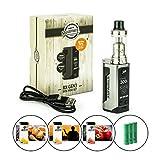 Steamax / Wismec RX Gen3 300 Watt + Reux Tank 6 ml + 3 x 2500 mAh Akku + 3 x 10 ml SC-Liquid (nikotinfrei) E-Zigarette E-Shisha E-Zigaretten-Set (grau)