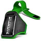 Aventus Huawei Honor 3C 4G /Honor 3C Lte (Grün) Voll einstellbare Leicht Hulle Armband-Halter-Kasten-Abdeckung Running, Walking, Radfahren, Fitnessraum und andere Sportarten