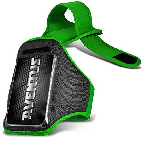 Aventus OnePlus 3T Custodia (Verde) Armband Completamente Regolabile Fascia da Braccia Portacellulare Leggera per la Corsa, Passeggiate, Ciclismo, Ginnastica e Altri Sport