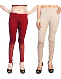 Comix Women Body Fit Bottom Net Full Leggings Combo Set Of 2.(AGSPL-3138-LG-10-CMB2)