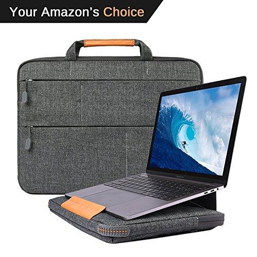 Gummi-laptop-tasche (wiwu Laptop Aktentasche Tasche 33-33,8cm MacBook MacBook, MacBook Pro, MacBook Air, Notebook Laptop Ständer Halter, Stoßdämpfung Gummi Silikon Bumper Kissen Ecke Polyester Sleeve Schutzhülle, Grau)