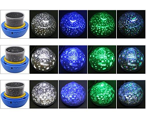 MKQPOWER Vivid Stern / Ozean / Geburtstagsprojektlampe, Romatic Atmosphäre-Lampe auf Partei-Hauptschlafzimmer, Diamant-Form 4D Projektor mit Farbenänderung Rotaty Nachtlicht