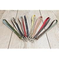 Schlüsselband aus echtem Leder in vielen Farben, mit Karabiner, handgemacht in Bayern