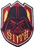 Star Wars Sith Schwarz Bordüre bestickt Badge Patch zum Aufnähen oder Aufbügeln auf 7,5cm x 5,5cm