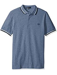Fred Perry Twin Tipped Shirt Glacier Carbon Oxford, Polo