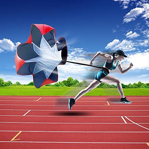 XGEAR Set de 1 Escalera de Velocidad y Agilidad 4 Clavos Largos y 1 Mochila para Deportista Atleta y Futbolista 1 Paraca/ídas de Correr 6 Conos de Deporte
