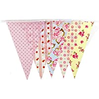 VORCOOL 10m guirnalda de doble cara banderines de algodón, bodas y fiestas Decor Garland