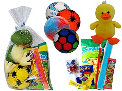Lote de 3 Balones de Balonmano con Golosinas y Peluches en...
