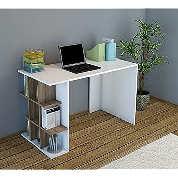 deluxe scrivania - noce / bianco - scrivania per computer ... - Scrivania Con Computer