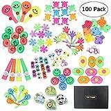 Yuccer Assortimenti di Giocattoli per Bambini, 100 PCS Gadget per Feste di Compleanno Premi Bambini Kit Feste Compleanno Bambini