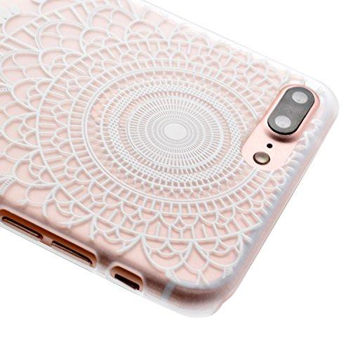 Voguecase® für Apple iPhone 7 4.7 hülle, Schutzhülle / Case / Cover / Hülle / TPU Gel Skin (Lace Blume) + Gratis Universal Eingabestift Durchstochen 01