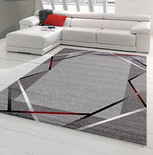 85c5fe31a955a7 Grands Tapis design salon gris noir et blanc, pas cher - 2017