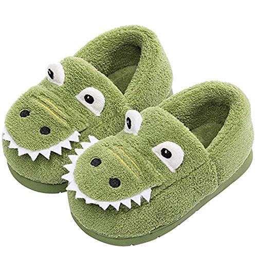 Hu.S.Ye Home Slippers Toddler House Slipper for Girls Boys Warm Winter Slippers Kids Infant Dinosaur Memory Foam Shoes