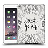 Head Case Designs Offizielle Cat Coquillette Silber Treat Yo Self Soft Gel Hülle für Apple iPad Air 2
