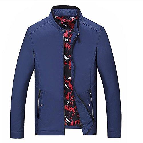 ZQQ Uomo Primavera Autunno Grande collare giovani sciolto giacca per il tempo libero Parka Trench Blazer Cappotti , blue , 185