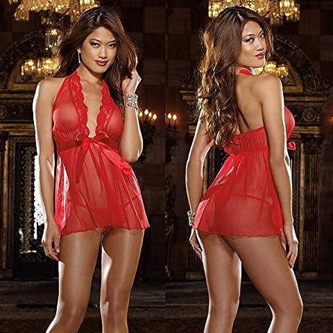 ZOYOL Lingerie sexy profondo scollo a v appeso nudo fondo