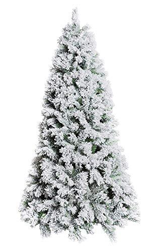 XONE Albero di Natale Oregon 150 cm - Innevato e folto | Albero Bianco Artificiale in PVC