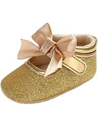 Rawdah- Neonato Scarpe-Bambino Bambina Soft Soft Culla Toddler Bowknot  Piccolo Casuale Scarpe Baby Shoes-Scarpette da Ballerina per… 8f55c48d9057