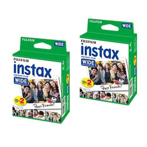 Fujifilm Filme für Sofortbildkamera Instax 210 / 200, weites Format, 2 Doppelpack = 40 Fotos