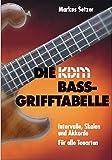 KDM Bass-Grifftabelle - Intervalle, Skalen und Akkorde für alle Tonarten