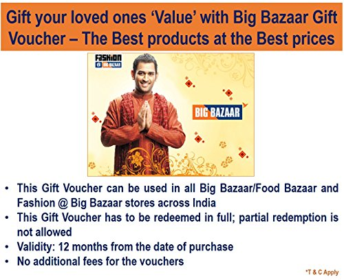 Big Bazaar Gift Voucher- Rs.1000