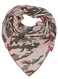 Zwillingsherz Dreieckstuch mit Kaschmir und Camouflage Muster - Hochwertiger Schal für Damen Jungen Mädchen - XXL Hals-Tuch und Damenschal - Strick-Waren für Sommer und Winter 150cm x 120cm