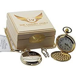 LAW Legal Gold Pocket Watch Scales of Justice Luxury Gift for Solicitor Lawyer Judge