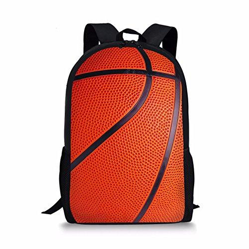 Gao's Basketball Schultasche Kinder Jungen Rucksack Reise Camping Wandern Casual Bookbags 17 Zoll Heavy Duty -
