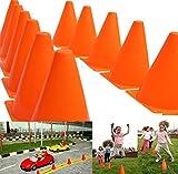 Sorprendentes conos de juguete para el tráfico, color naranja, paquete de 12 (D071)
