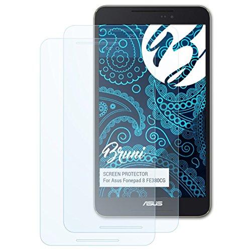 Bruni Schutzfolie kompatibel mit Asus Fonepad 8 FE380CG Folie, glasklare Bildschirmschutzfolie (2X)