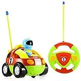 ERollDeep-DeeXop RC Cartoon Race Car with Action Figure Radio Control Toy with Music