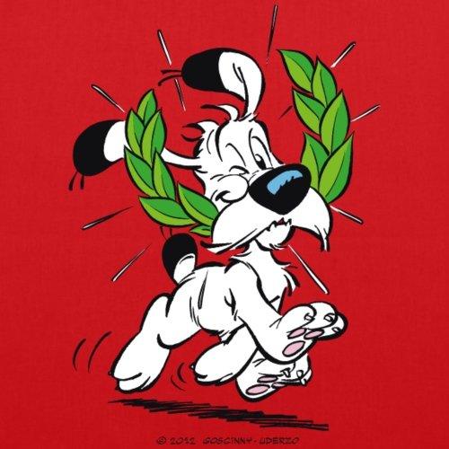 Spreadshirt Asterix E Obelix Idefix Con Borsa In Tessuto Laurel Wreath Rosso