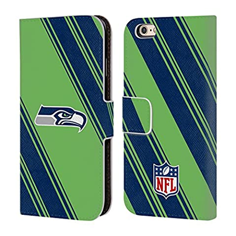 Official NFL Stripes 2017/18 Seattle Seahawks Leather Book Wallet Case