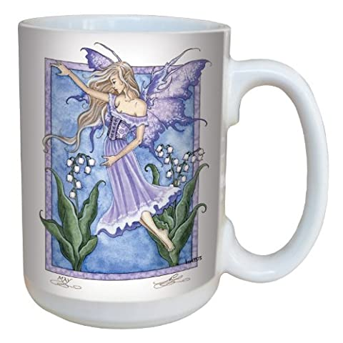 Tree-Free Greetings lm43573 15 oz Fantasy Lily of the Valley Fairy Ceramic Mug with Full Sized