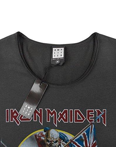 Amplified Damen, T-Shirt, Ironmaiden Trooper Holzkohle