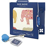 Blue Badge Company Disabled Parking Permit Cover Hologram-Safe Indian Elephants with Radar Toilet Key