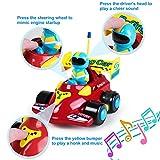 SGILE Cartoon Racer Auto Spielzeug, ferngesteuerte Spielzeugauto für Kleinkinder Kinder Geburtstag Weihnachtsgeschenk für SGILE Cartoon Racer Auto Spielzeug, ferngesteuerte Spielzeugauto für Kleinkinder Kinder Geburtstag Weihnachtsgeschenk