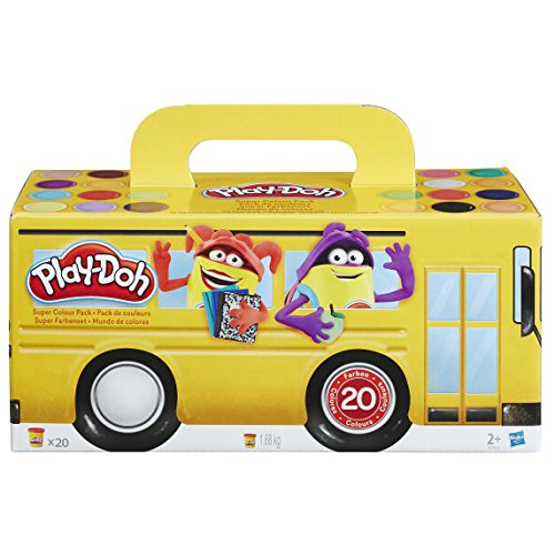 Play-Doh 0215A7924EU6, Morbida pasta da modellare, Super Color Pack (20 vasetti)