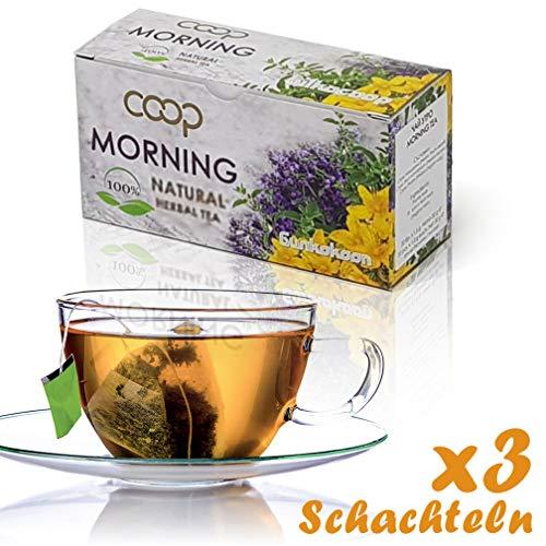 Morning Tea, Kräutertee -Ein großartiger erfrischender Tee aus einem Bouquet beliebter Kräuter, 3 Packungen zu 20 Filterbeuteln (60 x 1,5 Gramm), 100% Natural -
