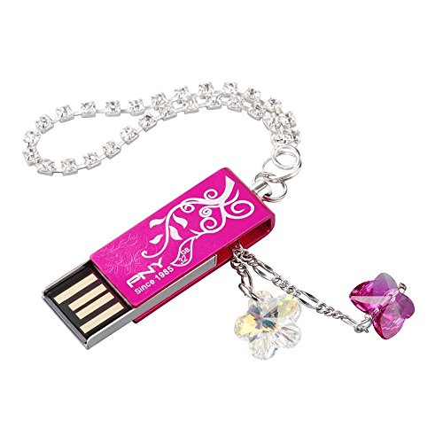 PNY Lovely Attache Swarovski Kristalle 2.0 USB Flash Drive 32 GB -