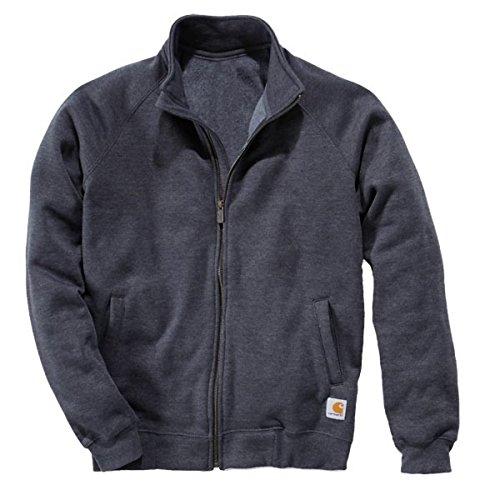 Carhartt K350 Midweight Mock Neck Zip Front Sweatshirt Grau