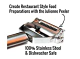 Premium #1 Julienne Peeler- Ultra Sharp Stainless Steel Dual Julienne & Vegetable Peeler-All Purpose 3 in 1 Potato Peeler,Vegetable Spiralizer, Carrot Slicer Grips Y Peeler Hand Held -Free Cleaning Brush