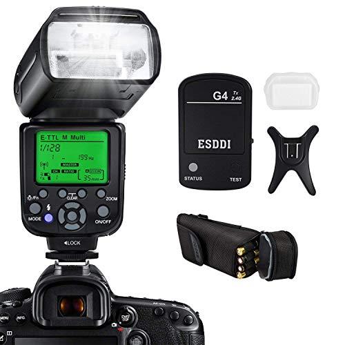 Flash Speedlite per CanonESDDI E TTL Kit Flash professionale con trigger flash wireless 1/8000 HSS Wireless Flash Speedlite GN58 2.4G Master slave