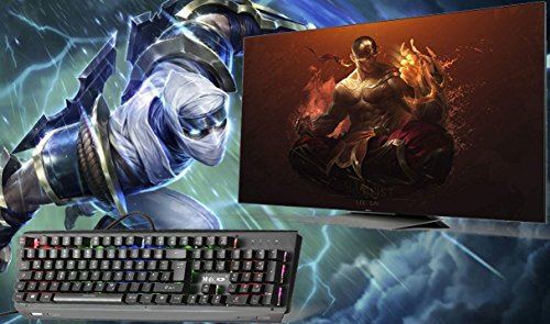 Mechanische tastatur, MECO Gaming Tastatur Key-Click Tasten, RGB, Ergonomischen Design, QWERTZ-Layout, 100% Wasserdicht, 105 Tasten Anti-Ghosting, Macro Recorder Mechaniche Tastatur - 7