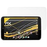 atFolix Panzerfolie kompatibel mit Vodafone Smart Tab 4G Schutzfolie, entspiegelnde & stoßdämpfende FX Folie (2X)