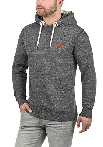 SOLID Kevin Herren Kapuzenpullover Hoodie Sweatshirt aus hochwertiger Baumwollmischung Grey Melange (8236)
